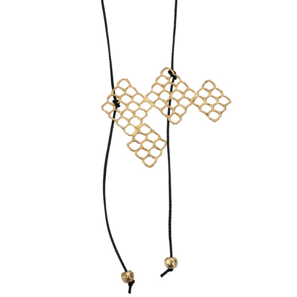 Kypseli necklace – Silver 925, gold plated