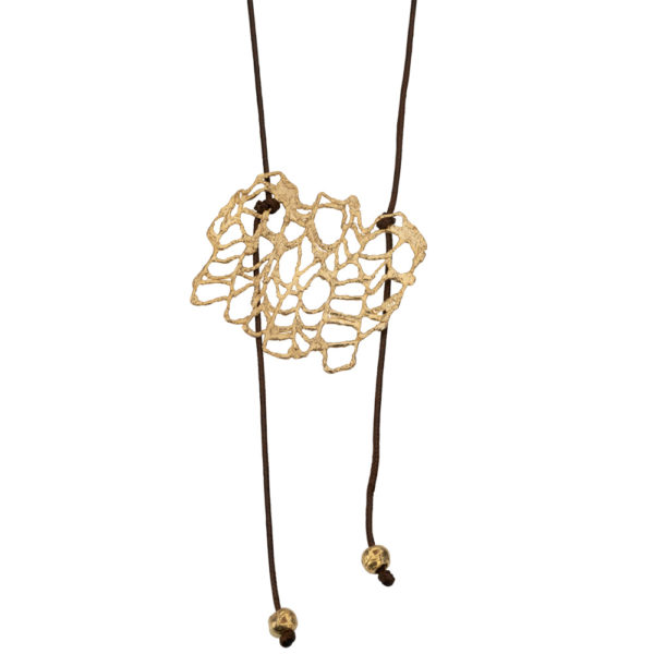 Nature necklace – Brass, gold plated