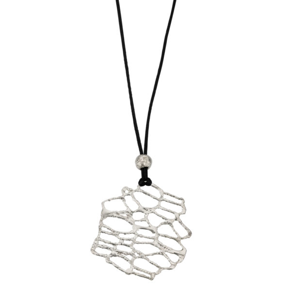 Nature Pendant – Brass, silver plated