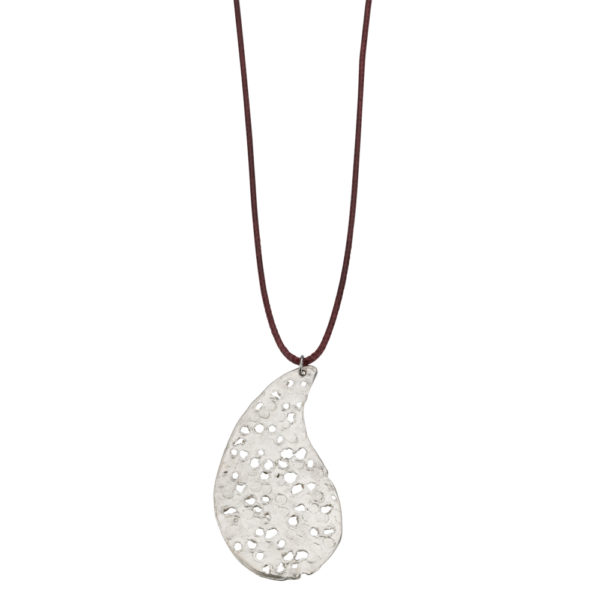 Lahouri necklace – Brass, silver plated