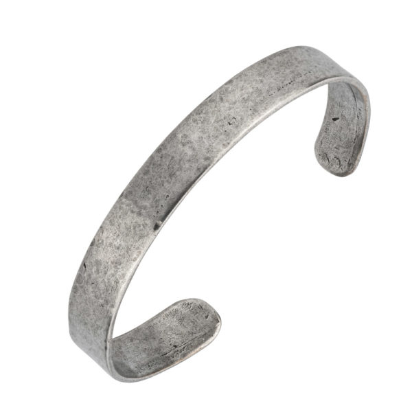 Cuff bracelet – Brass, antique silver plated