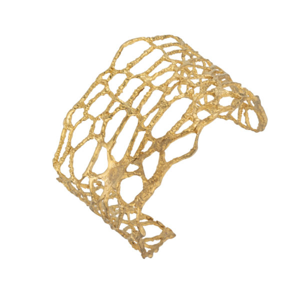 Nature bracelet – Brass, gold plated