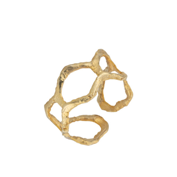 Kypseli ring – Silver 925, gold plated