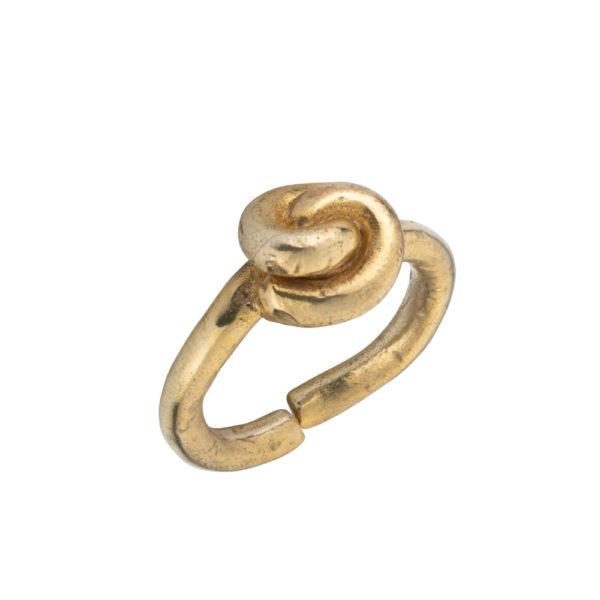 Knot ring – Silver 925, gold plated