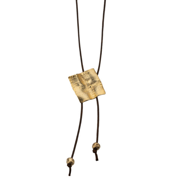Kypseli Tetragon necklace – Brass, gold plated