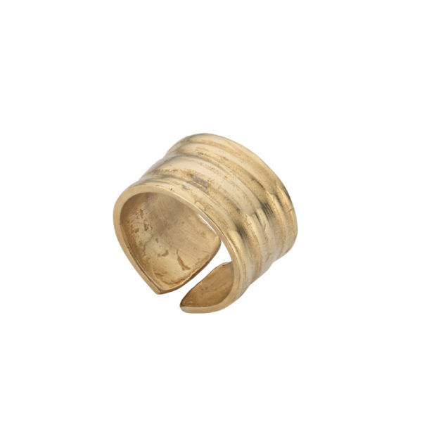 Athena ring – Brass, gold plated