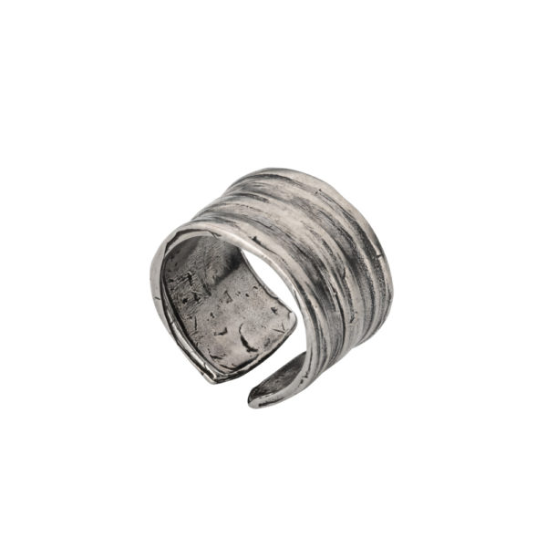 Athena ring – Brass, antique silver plated