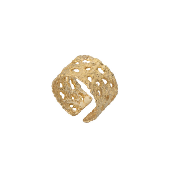 Old Lace ring – Silver 925, gold plated