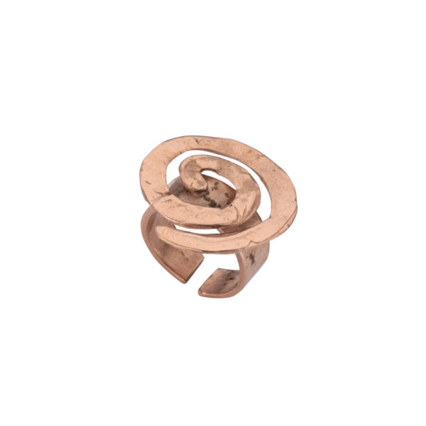 Spiral ring – Brass, rose gold plated