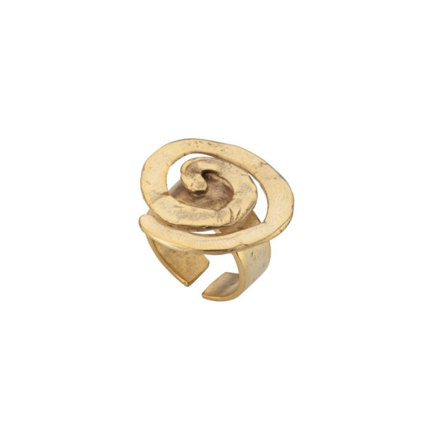 Spiral ring – Brass, gold plated