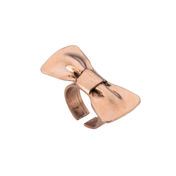 Bow ring – Brass, rose gold plated