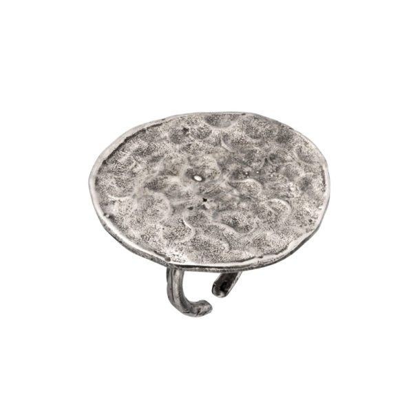 Hera ring – Brass, antique silver plated