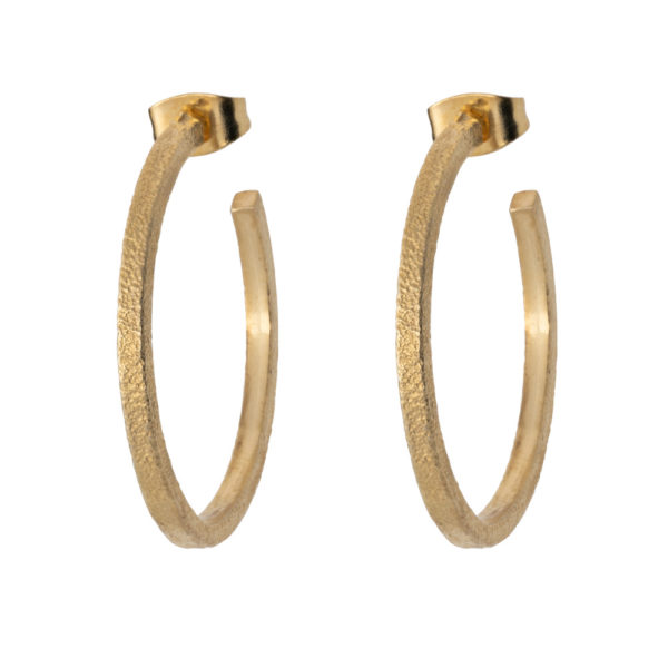 Ear-ring earrings – Silver 925, gold plated