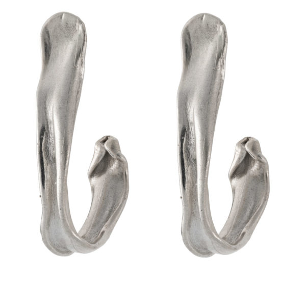 Hook earrings – Brass, silver plated