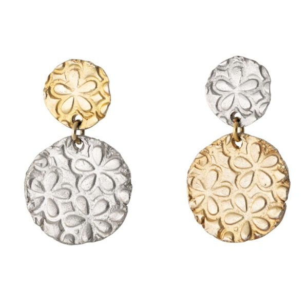 Aphrodite earrings – Brass, gold & silver plated