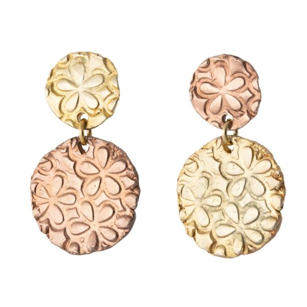 Aphrodite earrings – Brass, rose & yellow gold plated
