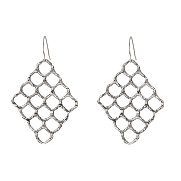 Queen Bee earrings – Silver 925, antique