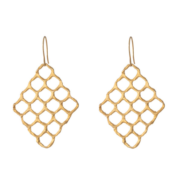 Queen Bee earrings – Silver 925, gold plated