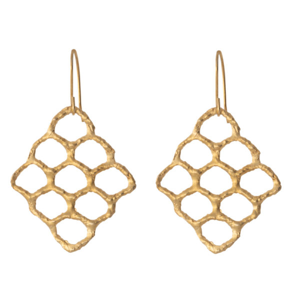 Kypseli earrings – Silver 925, gold plated