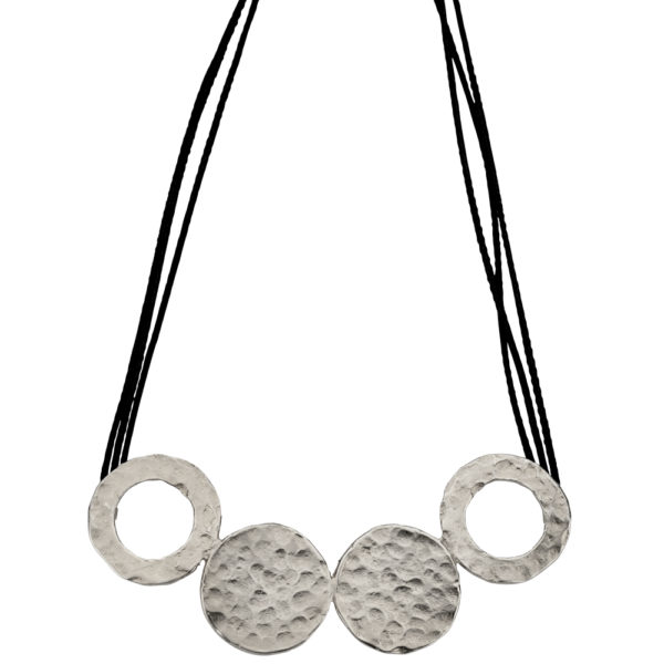 Hera necklace – Brass, antique silver plated