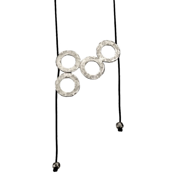 Hestia necklace – Brass, antique silver plated