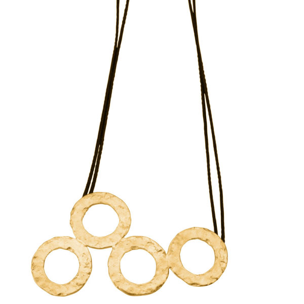 Hestia necklace – Brass, gold plated