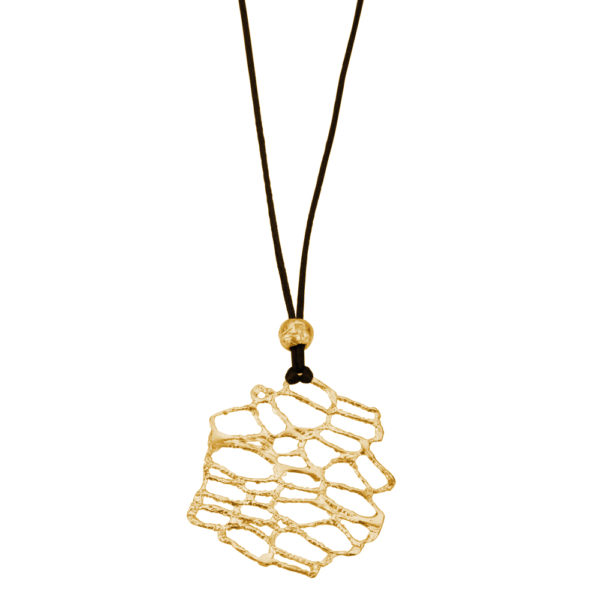 Nature Pendant – Brass, gold plated