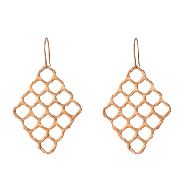 Queen Bee earrings – Silver 925, rose gold plated