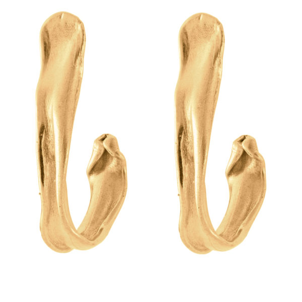 Hook earrings – Brass, gold plated
