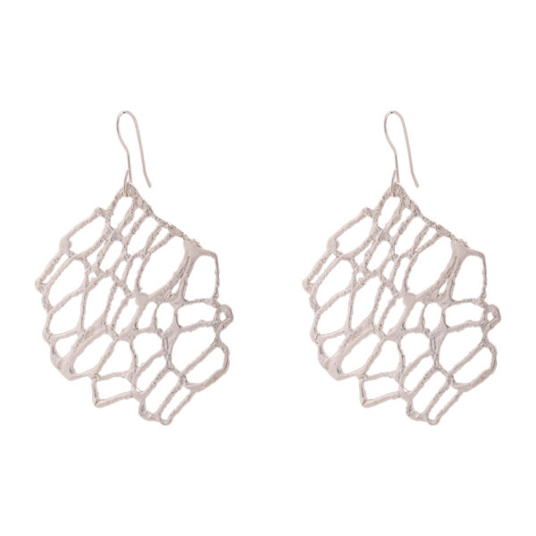 Νature earrings - brass, silver-plated