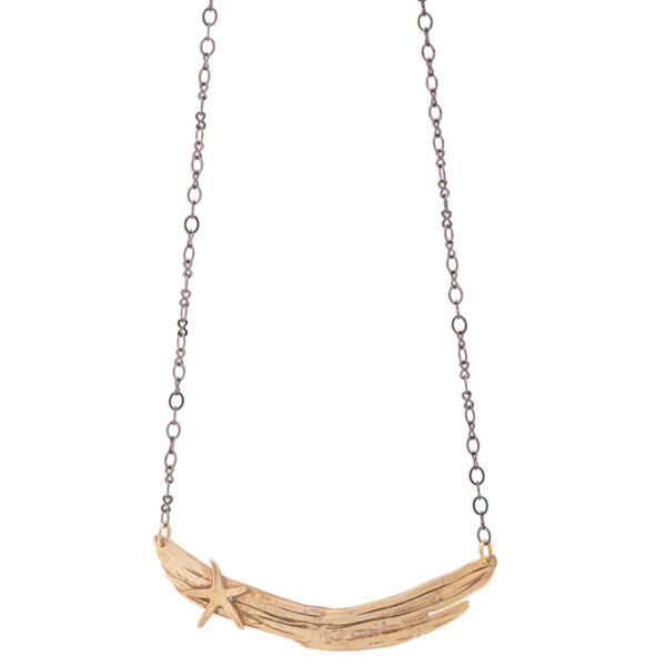 asterias necklace silver 925, gold plated