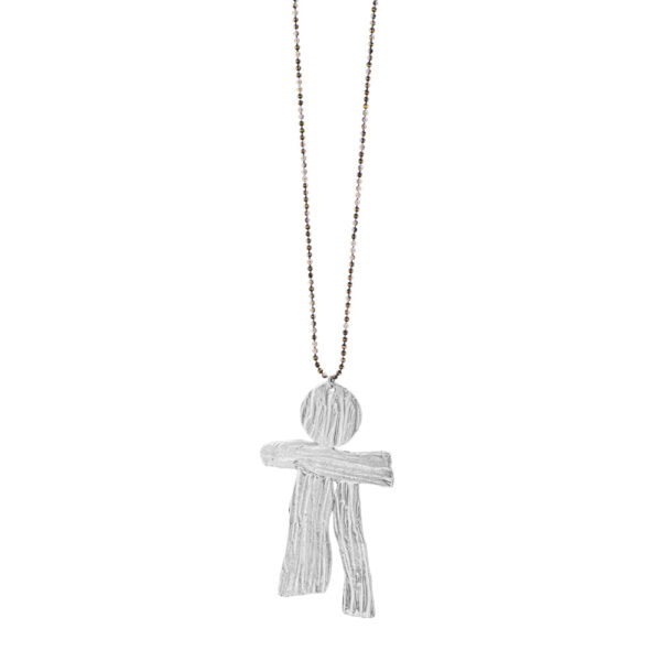 Thalassoxyla Child Pendant - Brass, Silver Plated