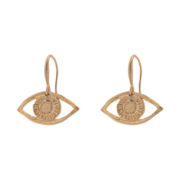 Eyes earrings silver 925, gold plated