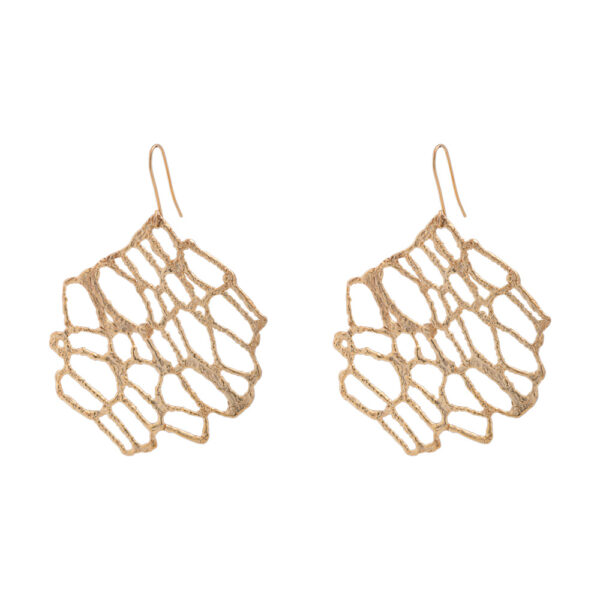 Νature earrings - brass, gold-plated