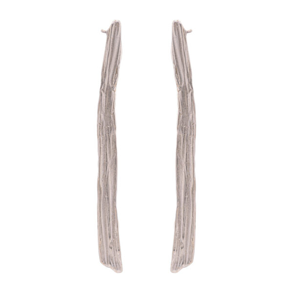 Thalassoxyla Earrings 2 - Brass, Silver Plated