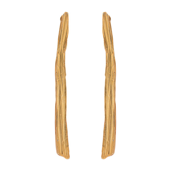 Thalassoxyla Earrings 2 - Brass, Gold Plated